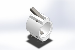 End cap assembly, modeled in Solidworks.