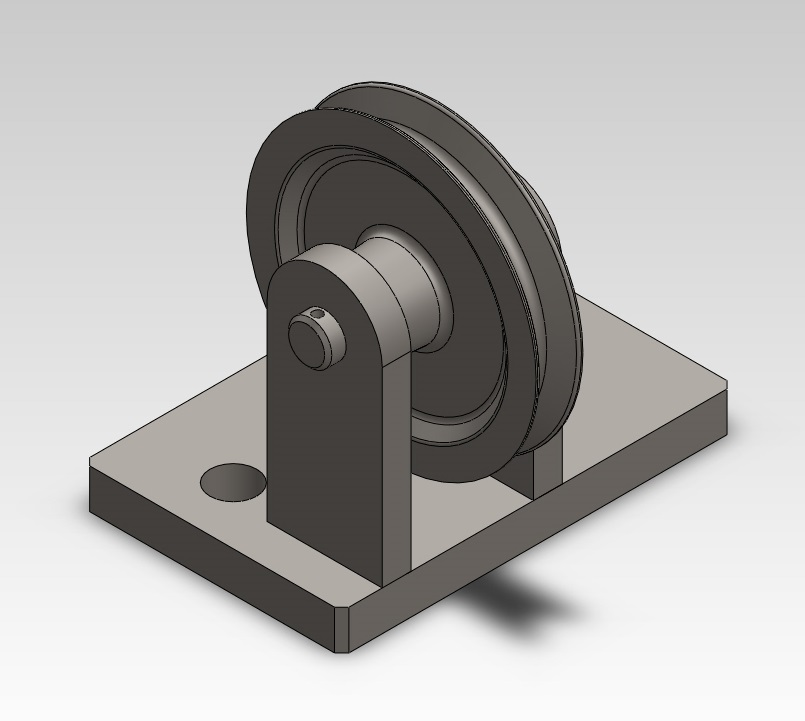 Pulley assembly in Solidworks