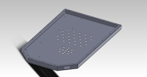 Isometric of the model in Solidworks